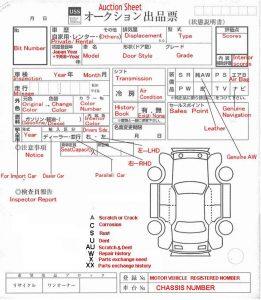 Auction sheet